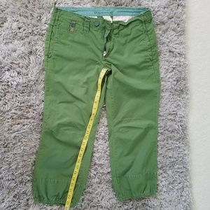 Anthropologie Summer Goods Green Capris size 4